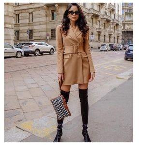 Zara belted blazer dress